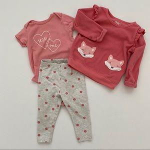 Carter's 3 Piece Toddler Girls Fleece & Leggings